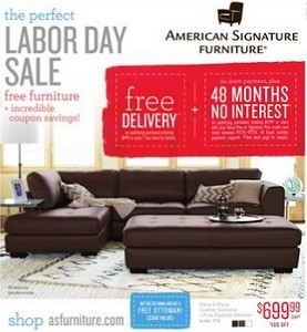 American signature furniture weekly ad flyer specials for Value city furniture amherst
